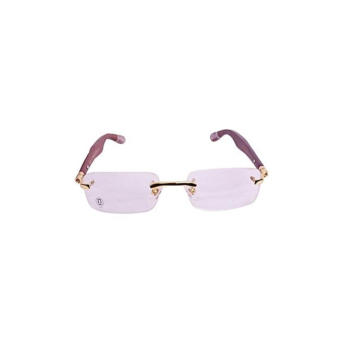 292ab337f6e Unisex Rimless Spectacles Transparent Eyeglass Frame Clear Glasses Eyewear  Transparent