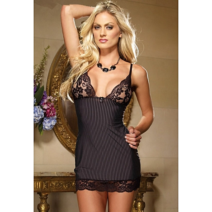 ... elegant shoes f71e4 52bd1 Elegant Sexy Lace Stripe Nightwear Erotic  Lingerie Sleepwear summer perspective mesh home ... 944acc936