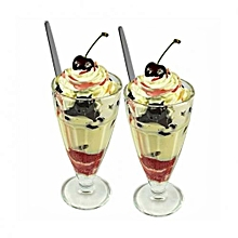 Milkshake Glasses - 6 Pieces - Clear