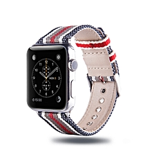 Simple Fashion Nylon Watch Strap for Apple Watch Series 3 & 2 & 1 38mm, with Connector