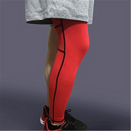 0a24ac9739 UNIVERSAL Unisex Compression Knee Leg Calf Support Sports Stretch Brace  Long Sleeve Wrap Red M-