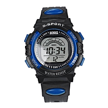 HONHX Africashop Watch  Fashion Mens Digital LED Analog Quartz Alarm Date Sports Wrist Watch-Blue