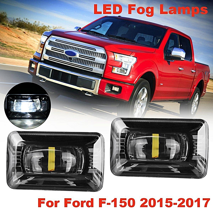 Pair Front Bumper Led Fog Light Lamps Clear Housing For Ford F