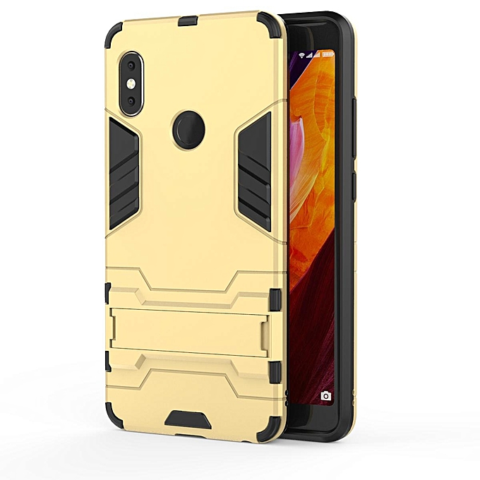 For Redmi Note5 Pro Case, Iron Hard Man Armor Dual Shockproof Bumper Full Body Stand