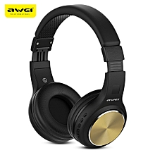 AWEI A600BL Wireless Bluetooth Over-ear Headphones Stereo Sound Noise Canceling with MIC-GOLD