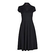 Black Flared  Ladies Dress