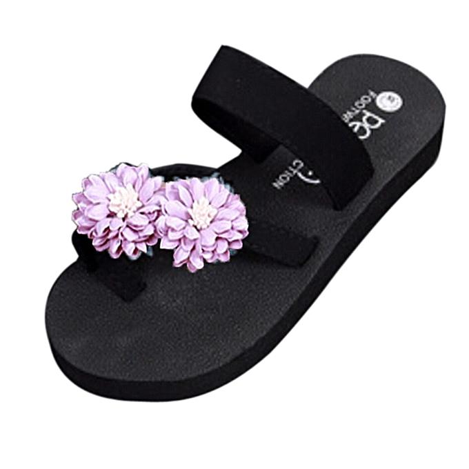 b13740dbd85b81 Generic Generic Summer Beach Shoes Platform Bath Slippers Wedge Flip Flops  Slippers Women Shoes A1   Best Price