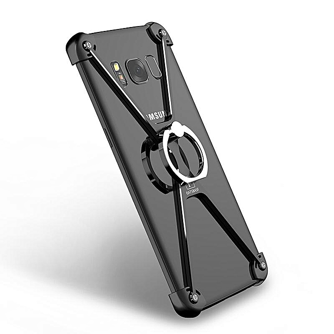 For Samsung Galaxy S8 Plus / SM-G9550 6 2 Inch Protect Frame Cover&Ring  Holder X Shape Ultra-Thin Aluminum Metal Shockproof Bumper Mobile Phone  Case