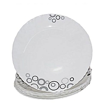 6 Pieces Diva Classique Dinner Plates + FREE 6 Tablespoons - Misty Drops