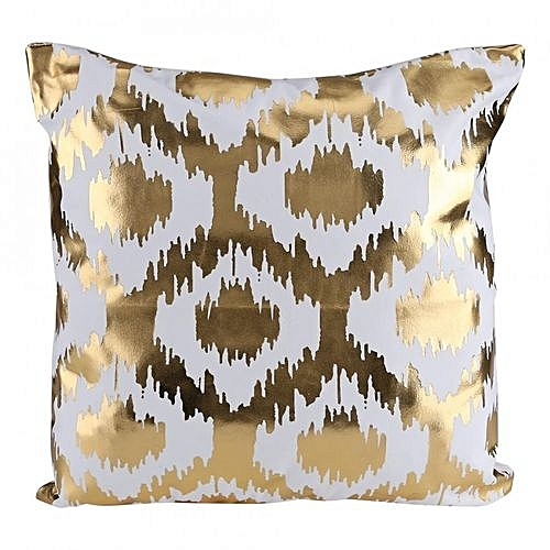 Vintage Printing Bronzing Linen Cotton Pillow Case Sofa Cushion Cover Decor  Geometric Pattern