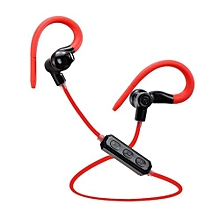 Handfree headsets, M1 Voice Control Bluetooth 4.1 Wireless Running Sport Headset GYM Stereo Earphone Earbud Headphones for Phone(Red)