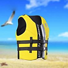 Adult Kids Life Jacket Neoprene Vest Buoyant Cotton PFD Swimming Boating Sailing Yellow M