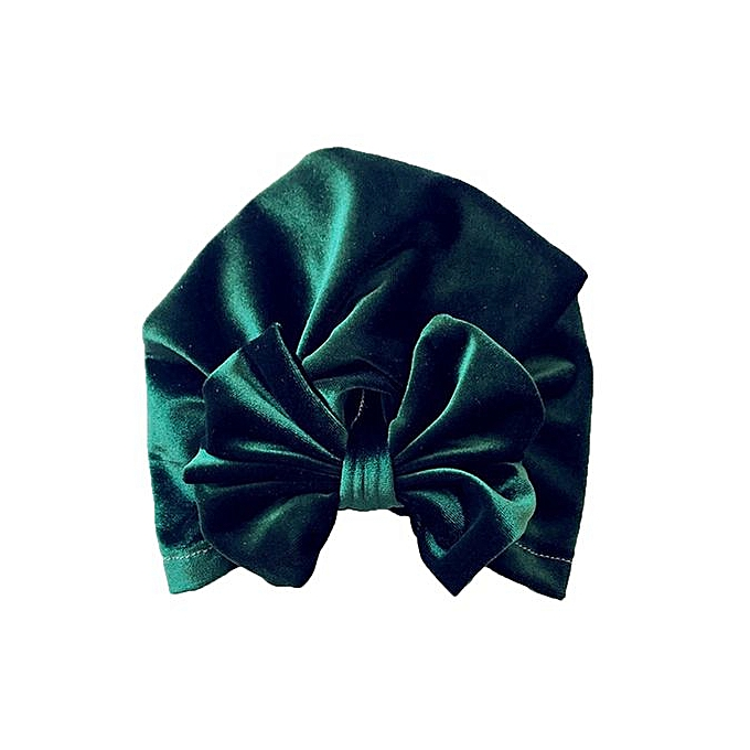Braveayong 1Pc Newborn Toddler Kids Baby Boy Girl Bowknot Turban Beanie Hat  Headwear Hat -Green ... 54be15f321af