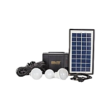 Brighter Than Ever GD-8006-A - Solar Lighting System with 3 bulbs - Black