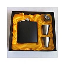 Hip Flask Set - Black