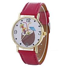 Women Chimes Pattern Quartz Watch Leather Strap Belt Table Watch Hot