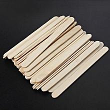 50/100pcs Wooden Popsicle Stick Ice Cream Cake Lolly DIY HandiCraft Art Kid Toy