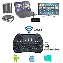 ANDROID Smart TV Wireless Keypad with Mouse Touchpad, Rechargeable, Combos - Black