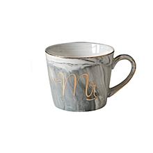 Ceramic Mug Marble Pattern Phnom Penh Mrs. Ms. Couple Cup Creative Grey Mr