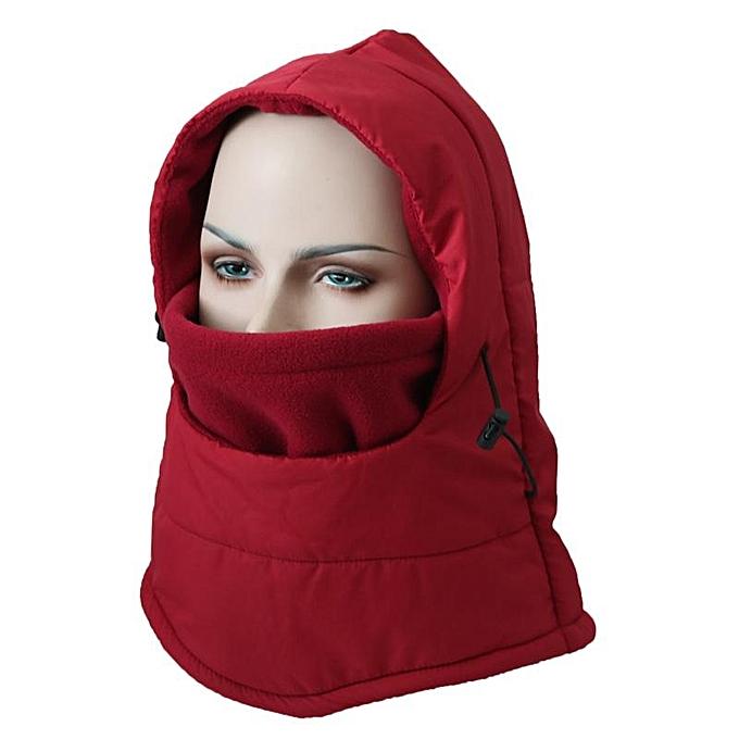Mens Women Winter Fleece Warm Waterproof Hat Outdoor Skiing Windproof  Full-protection Face Nack be378509ad5