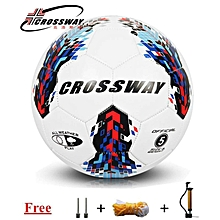 Crossway Football Soccer Standard Soccer Ball PU Size 5 Ball with Free Inflator