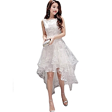 1f4934b409988 Fashion Party Dress Elegant Women White Dress Sleeveless Long Dress-white