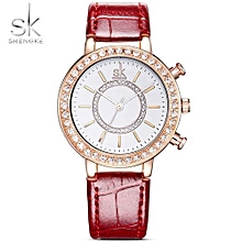 Women's Fashion Wrist Watches Leather Watchband Top Luxury
