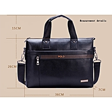 Men's Business Briefcase Commuter Handbag Single Strap Bag-Black