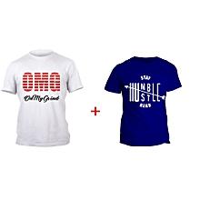 OMG White T-shirt Design and Blue Humble T-shirt Design