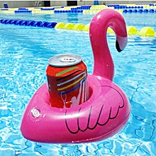 Inflatable Flamingo Shaped Floating Drink Holder, Inflated Size: About 17.5 X 17 X 15.5cm