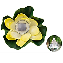 1 Pcs Solar Outdoor Floating Lotus Light Pool Pond Garden Water Flower LED Lamp