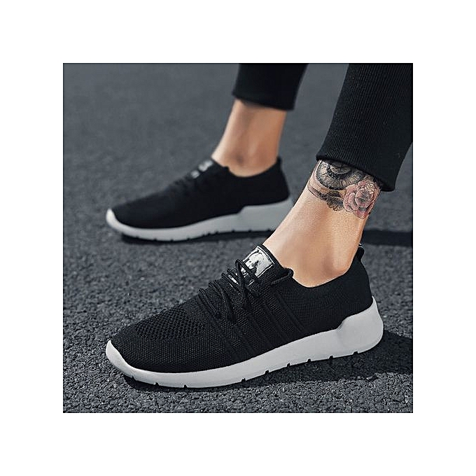 1eb1d536e2f 2018 Fashion Comfortable Mesh Breathable Men s Loafers Sneaker Running  Casual Shoes-Black