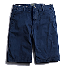 Men's Casual Comfort Cotton Pure Color Shorts Pants Summer Fashion Large Size Cargo Shorts