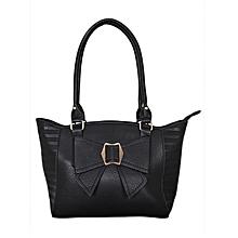 Black PU Leather Handbag
