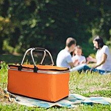 KCASA KC-BB474 Folding Picnic Basket Portable Insulated Camping Cooler Outdoor BBQ Food Organizer