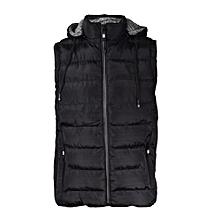 Black Sleeveless/Half Puff Jacket