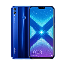 Honor 8x 6.5-Inch (4GB,64GB ROM), Dual 20MP + 16MP Dual SIM - Blue