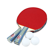 DOUBLE FISH Table Tennis Rackets with Balls Portable Ping-pong Paddle Set