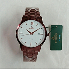 Rose Gold Men's Watch With Date