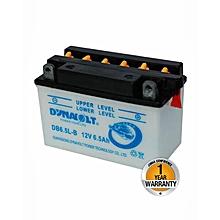 Motorcycle Acid Battery - DB6.5L-B - White