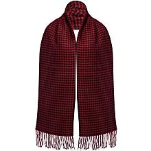 Tassel Lattice Scarf for Ladies - Red