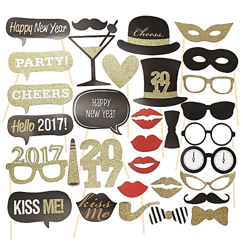 Buy Generic 32pcs Diy Photo Booth Props Wedding New Year Christmas