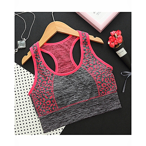 a25b060a1d Generic Womens Seamless Print Racerback Crop Tank Top Yoga Sports Bras  Underwear