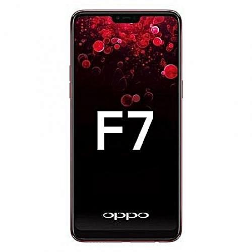 "F7 - 64GB Rom - 4GB Ram - 25MP Camera - 6.23"" FullView - 4G Dual Sim - Android 8 - RED"