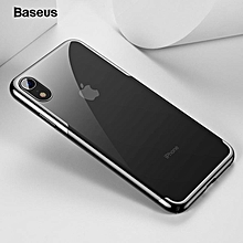 Baseus Phone Case Luxury Plating Hard Plastic Phone Case For iPhone Xs Max Ultra Thin Back Phone Cover Coque(6.5inch) (Black) FCJMALL