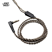 KZ 1.2M High Purity Oxygen Free Copper Headset Silver Plated Wire 0.75mm Pin Upgrade Cable For ZS10/ZST/ED12/ES3/ZSR/ES4Earphone   XXZ-Z