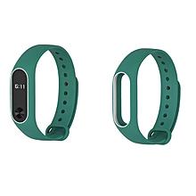 Mijobs Replacement Silicone Wrist Strap WristBand Bracelet for XIAOMI MI Band 2