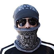 Outdoor Knitted Hat Scarf Cap Neck Warmer Winter For Men Women Skullies Beanies Fleece