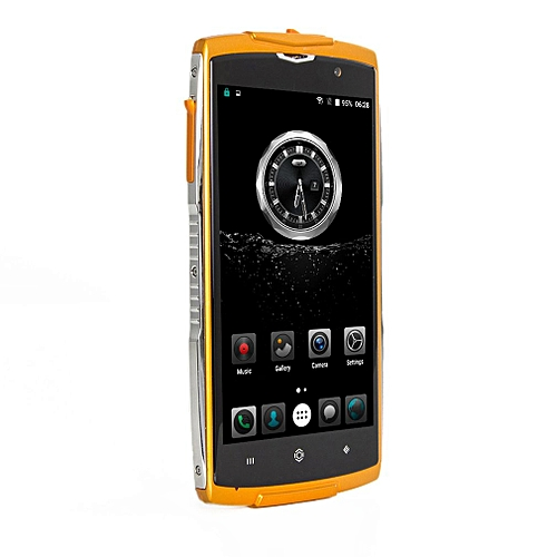 ZOJI-Z7 Quad Core Fingerprint 2GB RAM+16GB ROM Waterproof Smart Phone EU Plug-Orange