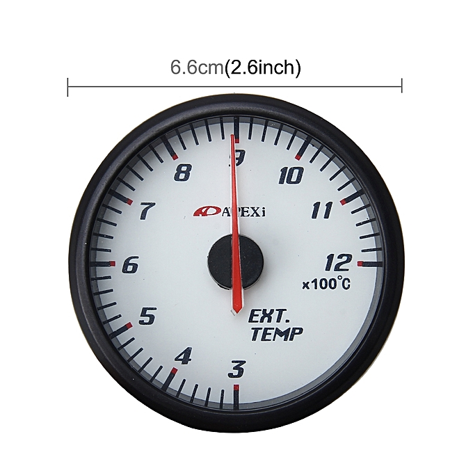 Universal Ext Temp Gauge Pointer Car Exhaust Gas Temperature Gauge For  Motorcycle and Car Exhaust Temperature Meter